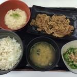 吉野家 - 料理写真:麦とろ牛皿御膳 ¥580