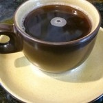 山家食堂 - 食後のコーヒー。インスタントだが無料。