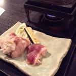 41036938 - 古地鶏と合鴨の石焼きセット