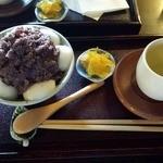 円山茶寮 - 冷やし白玉ぜんざい