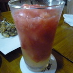 正栄丸 - 氷結果肉たっぷりグレープフルーツみぞれサワー(¥630)