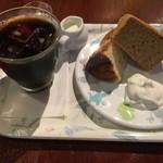 古瀬戸 - アイスコーヒー + 古瀬戸オリジナル シフォンケーキ