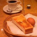 ヒマラヤのケーキ - モーニングセット(はちみつ)