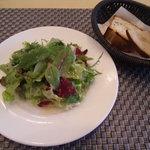 トレセミ - ランチサラダ、パン