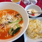 春華秋実 - 担々麺とチャーハンセット 980円
