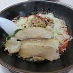 Akamaru - 冷やし担担麺+肉のせ