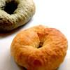 ボンラスパイユ - 料理写真:プレーンベーグル&よもぎベーグル