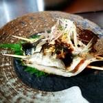 芦屋炭火キッチン MACHIYA - 淡路産真イワシの串焼き