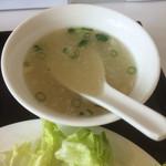 中華料理 広東 - 温かいスープ