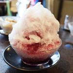 山食堂 - 巨峰ミルク(750円) ※デルベアのかき氷、8/14~8/16の限定メニュー