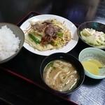 ゑびすや - 野菜炒め定食(700円)2015年8月