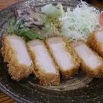 つ串亭 - 三元豚ロースカツ定食 1,200円