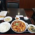 41055282 - 麻婆豆腐定食全体