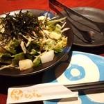 とりでん - 「山菜と水菜の和風サラダ」