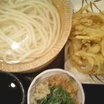 丸亀製麺 - 釜揚げうどん/野菜かき揚げ
