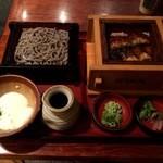 蕎麦酒房 天 - うなぎセイロととろろざるのセット 1450円