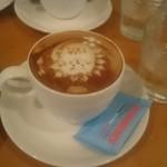 LOLO Cafe - カプチーノを間違えて反対から撮ってしまった、、、、