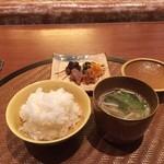 馳走のかぜ - ☆土鍋ごはん&お味噌汁と香の物☆
