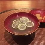 馳走のかぜ - ☆煮物椀は…コロダイ&冬瓜&酢橘(*^^)v☆