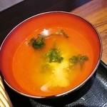 おむすび きゅうさん - 味噌汁
