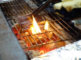 天竜 - 焼物は備長炭で♪私の山椒にしんを焼いています