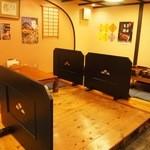 京極寿司 - 小上がりのテーブル席