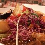 クレソン - だったんポークカレー(850円)・野菜(150円)