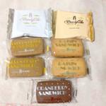 横浜かをり - ブランデーケーキ2種類とサンド3種類