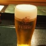 京極寿司 - 喉が渇いたときに呑む生ビールが美味しい!!