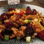 41069315 - 鶏肉の唐辛子炒め