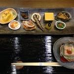 一柳斎 玄庵 - 予約した3,000円ランチ  先付け、ゴマ豆腐