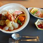 レストラン白帆 - 甘エビカレー1100円