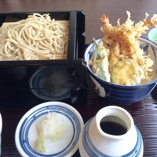 六常庵 - 天丼と手打ち蕎麦セット1000円