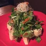 魚和食 浜菜虎 - 蟹とアボカドの湯葉巻きサラダ