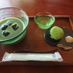 41082482 - 上生菓子・抹茶セット(冷抹茶)