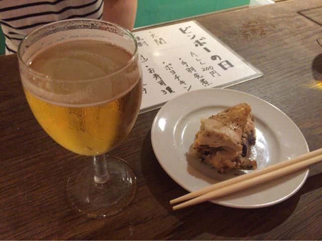 ビンボー - 【ビール】と【ポヨチキン】(各200円税込)