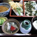 41083501 - 天ざる+ミニタレカツ丼