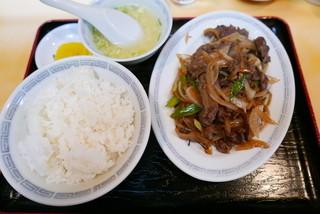 桃宝園 - ジンギスカン定食(850円)