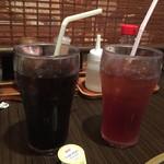 焼肉乃我那覇 - ランチサービスのアイスコーヒー&アイスティー