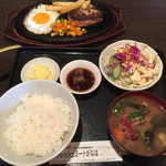 焼肉乃我那覇 - ハンバーグ定食800円