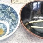 中華そば土屋商店 - スープ割りも頂き完汁