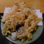 晃陽軒 - 天ぷら定食の天ぷら