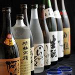 銀座 天ぷら 阿部 - 店主 阿部が選んだ焼酎、日本酒を天麩羅とご一緒にどうぞ