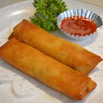 中国料理 龍亭 - クリスピーな春巻き