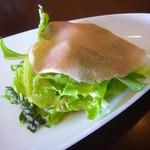 41095459 - 前菜(生ハムとグリーンサラダ)