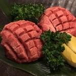 仙台牛焼肉 バリバリ - ダイス上の牛タン・・・じゅんじゅわー
