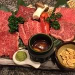 仙台牛焼肉 バリバリ - この盛り合わせは圧巻ですね!お値打ち!