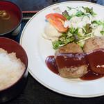 TAMAMIYA - ハンバーグ定食:650円/2015年8月