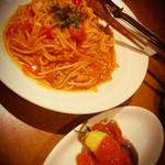 ガルニ タルティーヌ - パスタ。ランチはサラダとスープつき