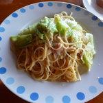 イタリアンレストランバーココロ - キャベツと明太子のペペロンチーノ(ランチセット900円)